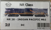 ALL NEW TOOLING Indian Pacific NR28 Mk1 LOCOMOTIVE BY SDS MODELS DC POWERED MODEL. #NR319