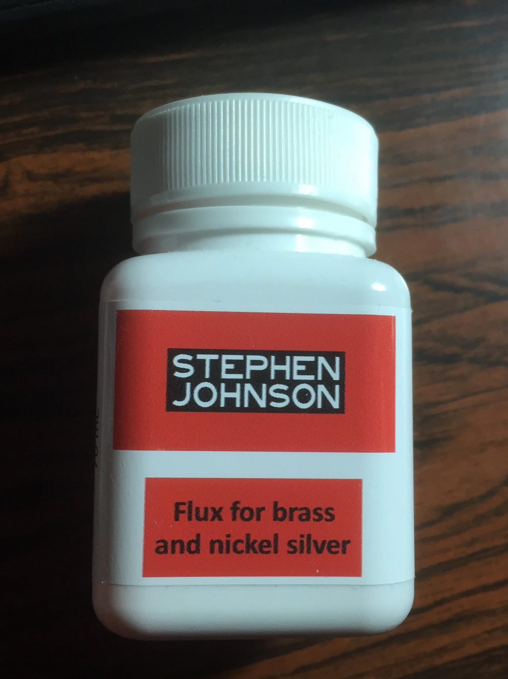S. JOHNSON -  FLUX for BRASS- NICKEL SILVER METAL 70ml
