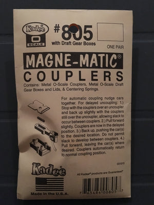 O SCALE #805 METAL COUPLER ONE PAIR KADEE