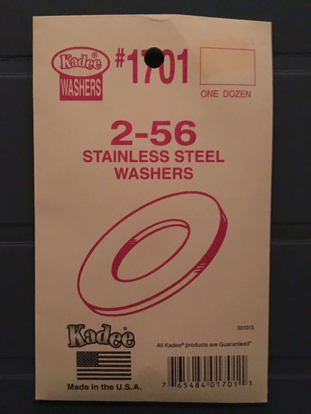 #1701 KADEE 2-56 Washers Stainless Steel (12)