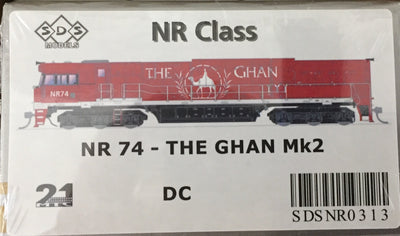 ALL NEW TOOLING The GHAN NR74 Mk2 LOCOMOTIVE BY SDS MODELS DC POWERED MODEL. #NR313