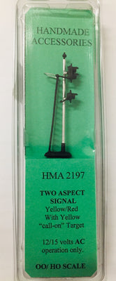 HMA 2197 TWO ASPECT SIGNAL YELLOW / RED WITH YELLOW CALL-ON TARGET 12 TO 15 VOLTS
