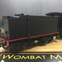 "WOMBAT MODELS: 3089 BOGIE TENDER ""Superheated"" (NEW Tooled Smokebox) LOCOMOTIVE Black MODEL C30T now in stock"