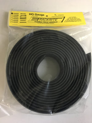 Trackrite: H505A Flexible Track Underlay 5m Lengths HO
