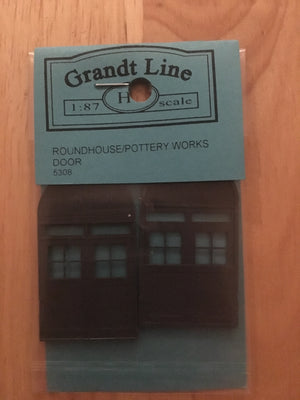 "DOORS #5308 RoundHouse Doors (2) ""GRANDT LINE""  (AVAILABLE UNTIL SOLD OUT)"