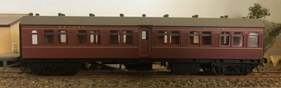 Casula Hobbies: RTR FR 1055 2nd class Passenger Car, Indian Red
