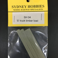 "SH 04 ""S"" Wagon TIMBER STACK LOAD FOR NSWGR Open 4 Wheeler Wagon (1 LOAD)"