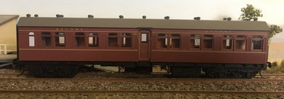 Casula Hobbies: RTR FR 1349 2nd class Passenger Car, Indian Red (Single R Car)