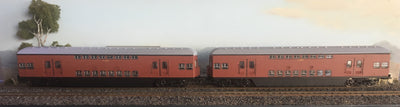 Casula Hobbies: RTR 1964 Sydney Electric Suburban Trailers: 2 car Tuscan set T4945 / T4912