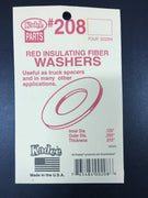 # 208 Red Insulating Fibre Washers 0.015in