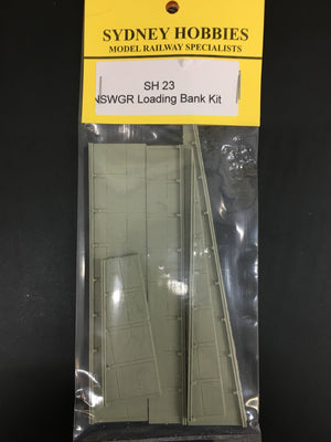 SH23 NSWGR LOADING BANK SIDES KIT (60cm=170 SCALE ft long)
