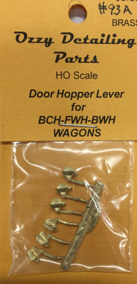 #93A HOPPER LEVERS Ozzy Brass HOPPER LEVERS for BCH & goods wagon NSWGR #93A
