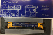 82 Class On Track Models: 8222 Pacific National Locomotive with DCC & SOUND