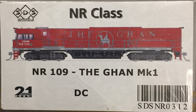 ALL NEW TOOLING The GHAN NR109 Mk1 LOCOMOTIVE BY SDS MODELS DC POWERED MODEL. #NR312