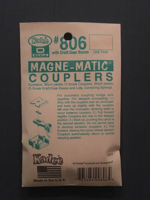 O SCALE #806 Short Couplers ONE PAIR KADEE