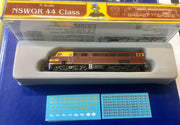 2. 44 Class Mk2 DEEP INDIAN RED with two red lines NSWGR LOCOMOTIVE GOPHER MODEL N Scale