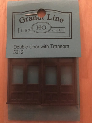 DOORS #5312 Double Door w-Frame & Transom (2)