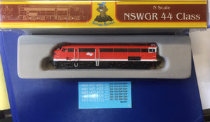 44 Class Mk2 RED TERROR NSWR LOCOMOTIVE GOPHER MODEL N Scale
