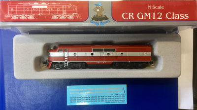 6. GM12 Class COMMONWEALTH RAILWAYS LOCOMOTIVE GOPHER MODEL N Scale.