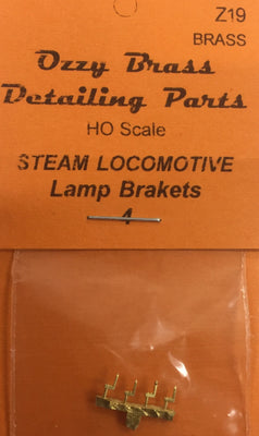 Lamp Brackets for Steam Loco's, Carriages, marker lights. HO Ozzy Brass: #Z19