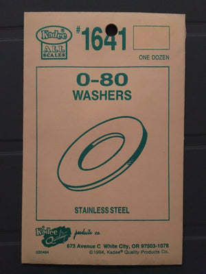 #1641 Washers Stainless Steel 0-80