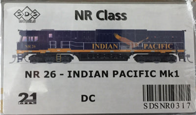 ALL NEW TOOLING Indian Pacific NR26 Mk1 LOCOMOTIVE BY SDS MODELS DC POWERED MODEL. #NR317
