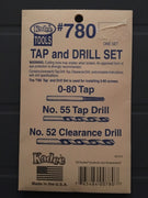 # 780 Tap and Drill Set 0-80 KADEE
