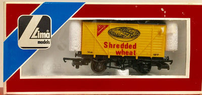 2H: LIMA OO 305684W SHREDDED WHEAT COVERED VAN NEW CONDITION 2nd HAND ; HORNBY COUPLERS N029