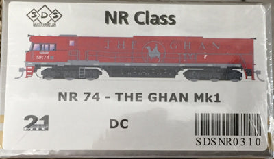 ALL NEW TOOLING The GHAN NR74 Mk1 LOCOMOTIVE BY SDS MODELS DC POWERED MODEL NR310.