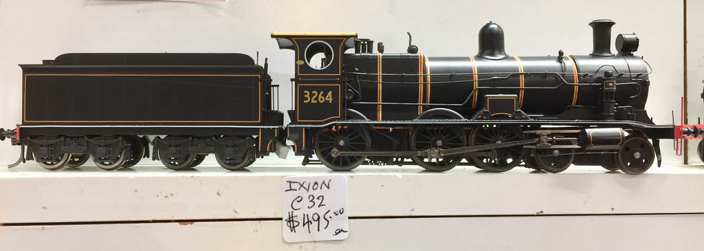 C3264 Ixion Model Railways: NSWGR 32 CLASS LOCOMOTIVE 3264 BLACK with RED LINED the CENTENARY LIVERY WITH BOGIE TENDER,