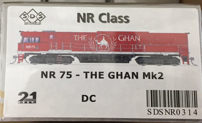 ALL NEW TOOLING The GHAN NR75 Mk2 LOCOMOTIVE BY SDS MODELS DC POWERED MODEL. #NR314