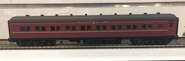 4. MAL 2109 INDIAN RED Eureka Models : SLEEPING CAR NSWGR 12 Wheel Passenger 72.6 Car Series .