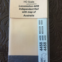 4458 class Ozzy Decals: Locomotive 4458 Independent Rail with Map of Australia