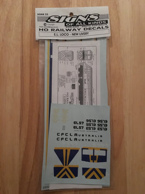 SK 23- DECAL for locomotive EL class CFCLA.