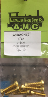 CHEESEHEAD   4 BA 1/2 inch BRASS SCREWS Qty 10