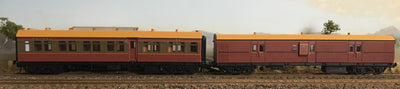 RRP $285: SAVE $35: CR - EHO R Type Cars CR1386 T/R Composite Car+ EHO1464 Tuscan Brake Van  R Type CARS Casula Hobbies: RTR. *