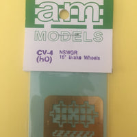 AM Models : CV04 NSWGR ETCHED 16inch Brake Wheels & Lamp Irons Brass (10)