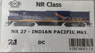 ALL NEW TOOLING Indian Pacific NR27 Mk1 LOCOMOTIVE BY SDS MODELS DC POWERED MODEL. #NR318