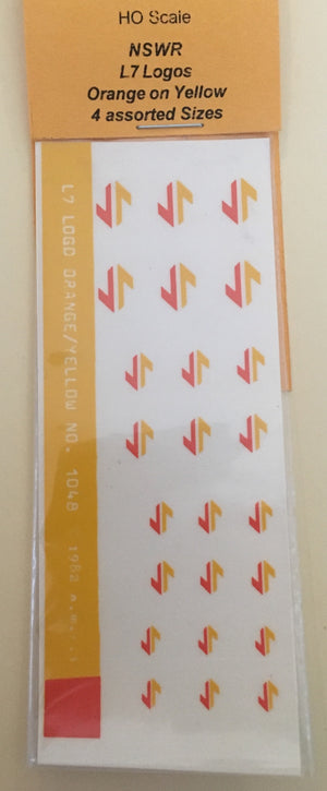Ozzy Decals: LOGO'S 1048 NSW / SRA L7 4 assorted sizes, Orange and Yellow.