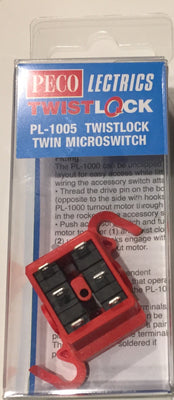 Peco: NEW PL-1005 TWISTLOCK TWIN MICROSWITCH OO/HO