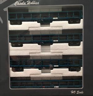 Casula Hobbies: Car Carriers NMNX (BNX) 34504,34506,34514,34566 : Pk7. with 4 carriers PTC blue. 4 letter Code 1988 Ready to Run Models