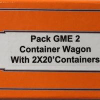 Austrains 3 x GME Container Wagon plus 2 x 20 ft containers on ea wagon pack GME 2. one pack only available.