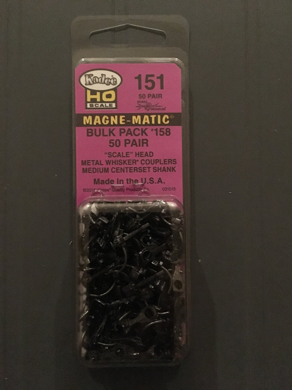 # 151 has 50 pair in bulk pack 158 scale head