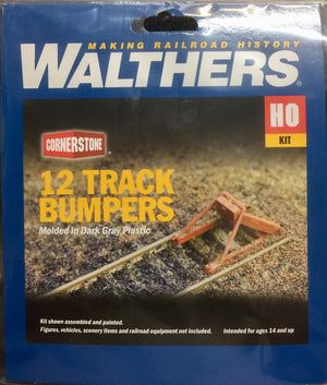 WALTHERS: 12 TRACK BUMPERS KITS #933-3511 (Buffer Stops) HO