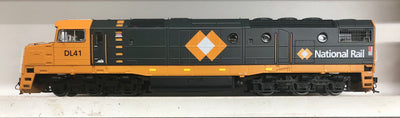 DL41 - 2ND HAND - AUSTRAINS DL 41 NATIONAL RAIL CHARCOAL GREY model LOCOMOTIVE good condition test run.