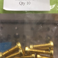 CHEESEHEAD   4 BA 1/4 inch BRASS SCREWS Qty 10