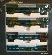 Casula Hobbies: Car Carriers BNX 34596,34575,34585,34592 : Pk4. Modified 1975 4 Cars: Blue Weathered Set