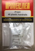 P1241 POWERLINE Parts 48 Class Front and Rear Handrails plastic 1 set.