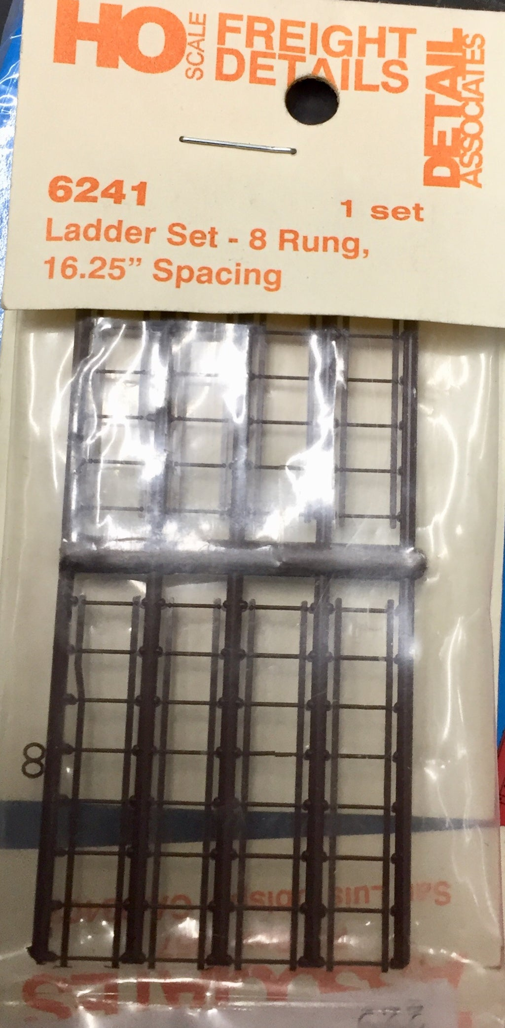 "DETAIL ASS - 6241 - Ladder Set - 8 Rung, 16.25"" Spacing.  (end of run stock)"