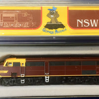 3. 44 Class Mk2 Indian Red no red lines NSWGR LOCOMOTIVE, GOPHER MODELS N Scale.